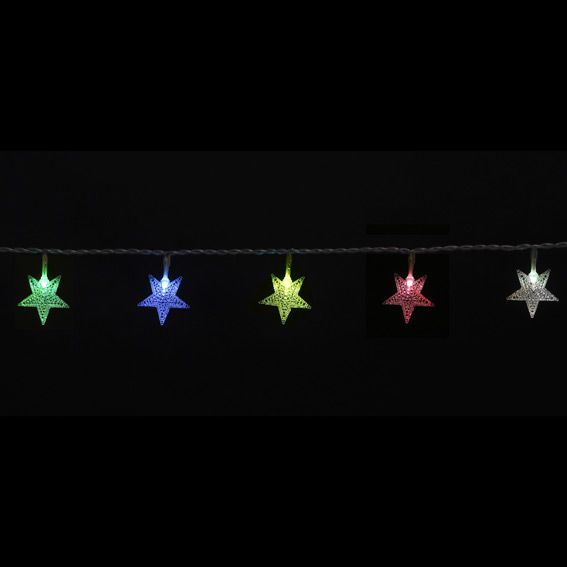 Guirlande lumineuse Etoiles Multicolore