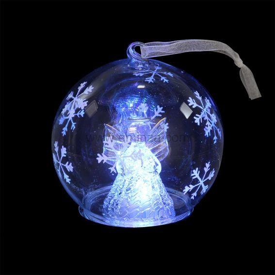 Boule de Noël lumineuse ange Michèle   Boule et déco de sapin   Eminza