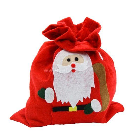 sac cadeau en tissu p re no l harold rouge sac et. Black Bedroom Furniture Sets. Home Design Ideas