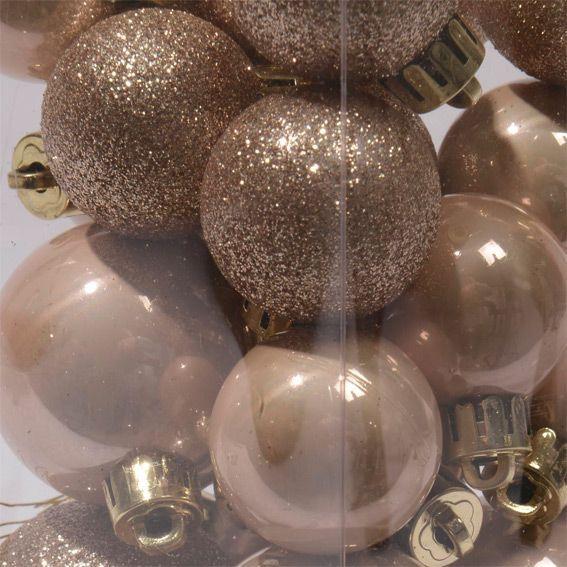 Lot de 26 boules de Noël Pamela Taupe   Boule et déco de sapin
