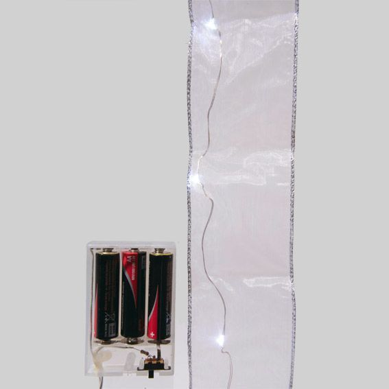 guirlande lumineuse ruban blanc froid 20 led d coration lumineuse eminza. Black Bedroom Furniture Sets. Home Design Ideas