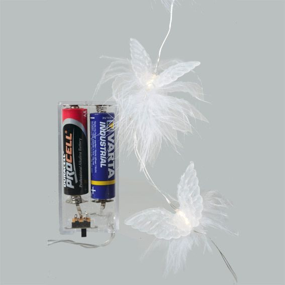 Guirlande lumineuse Aile d'anges Blanc chaud 20 LED