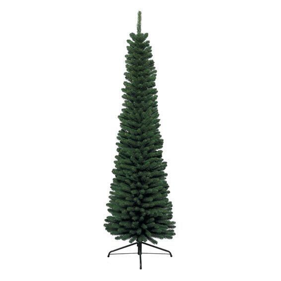 Künstlicher Weihnachtsbaum Mit Beleuchtung 45 Cm.Künstlicher Weihnachtsbaum New Pencil H150 Cm Tannengrün Kunsttannen Deko Bäume Eminza