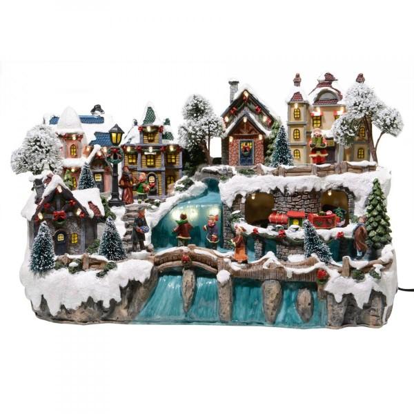 Village de Noël lumineux Féerique   Village de Noel   Eminza