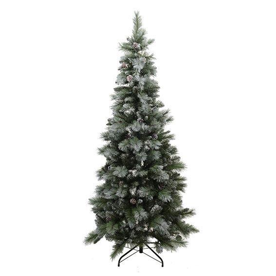 Weihnachtsbaum Aufbauen.Künstlicher Weihnachtsbaum Norwich H210 Cm Grün Verschneit