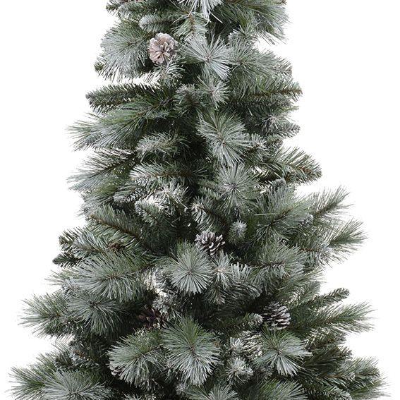 Weihnachtsbaum Engelshaar.Künstlicher Weihnachtsbaum Norwich H210 Cm Grün Verschneit