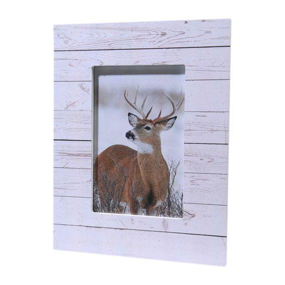 cadre photo rectangulaire bois blanchi d coration de table eminza. Black Bedroom Furniture Sets. Home Design Ideas