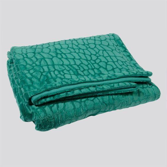 plaid douceur crocodile vert meraude eminza. Black Bedroom Furniture Sets. Home Design Ideas
