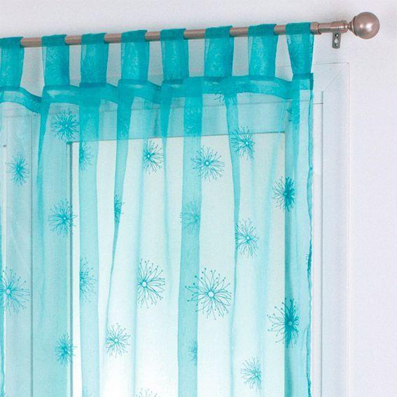 Voilage (140 x H240 cm) Chardon Turquoise