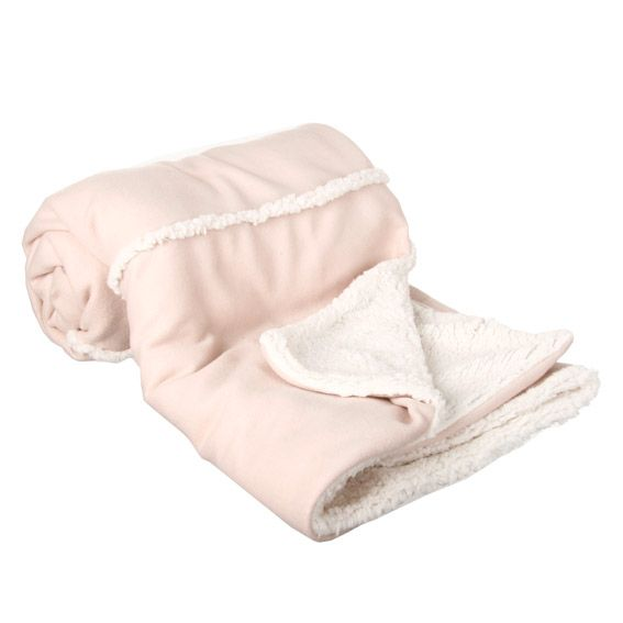 plaid polaire mouton rayures rose p le plaid et jet s eminza. Black Bedroom Furniture Sets. Home Design Ideas