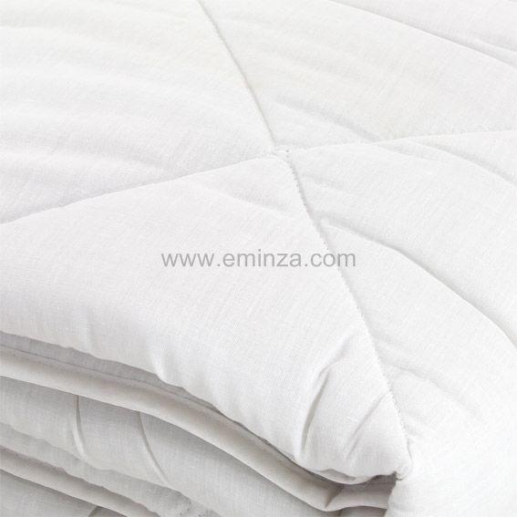 couette 240 cm anti acarien blanc linge de lit eminza. Black Bedroom Furniture Sets. Home Design Ideas