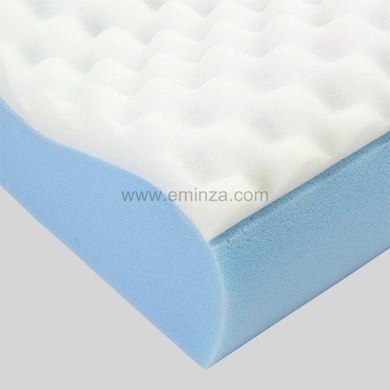 oreiller rectangulaire ergonomique cervical blanc oreiller traversin eminza. Black Bedroom Furniture Sets. Home Design Ideas
