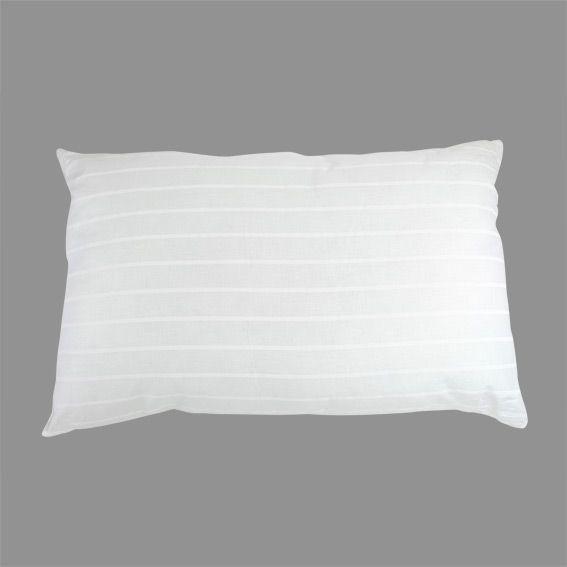 oreiller rectangulaire anti acarien duo inuit blanc linge de lit eminza. Black Bedroom Furniture Sets. Home Design Ideas