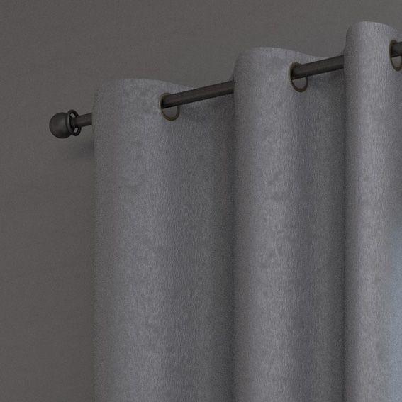 Rideau (140 x H250 cm) Cosy Argent - Rideau / Voilage / Store - Eminza