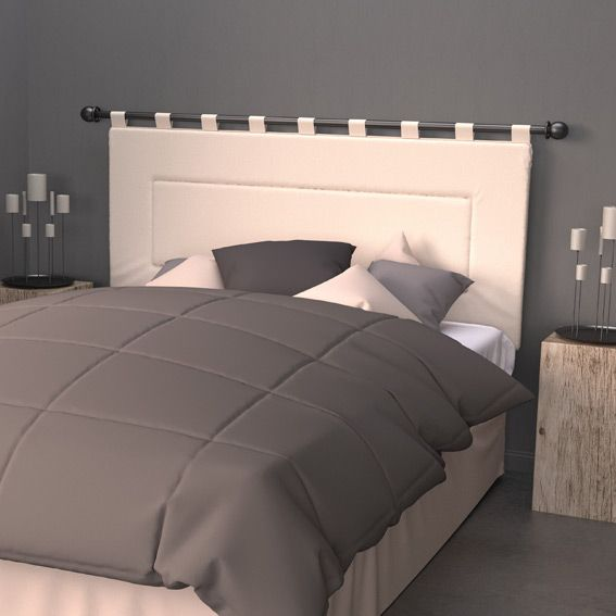 t te de lit 160 cm contemporaine ecru linge de lit. Black Bedroom Furniture Sets. Home Design Ideas