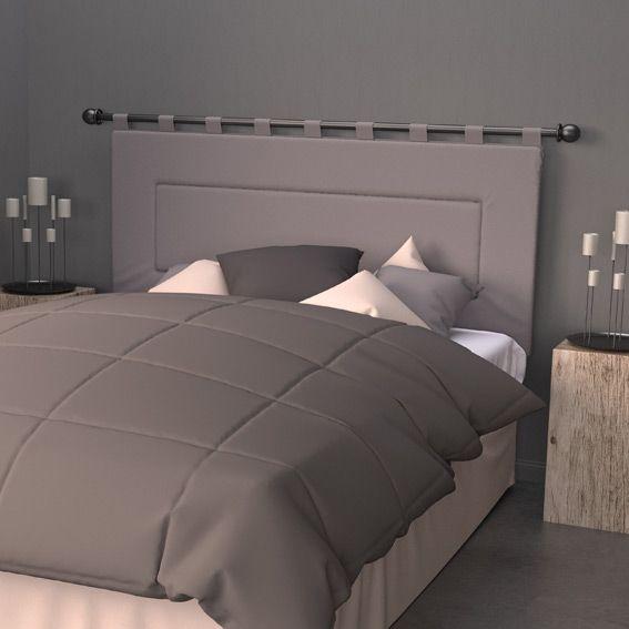 t te de lit 160 cm contemporaine gris linge de lit eminza. Black Bedroom Furniture Sets. Home Design Ideas