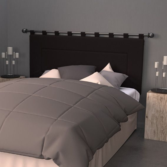 t te de lit 160 cm contemporaine noir eminza. Black Bedroom Furniture Sets. Home Design Ideas