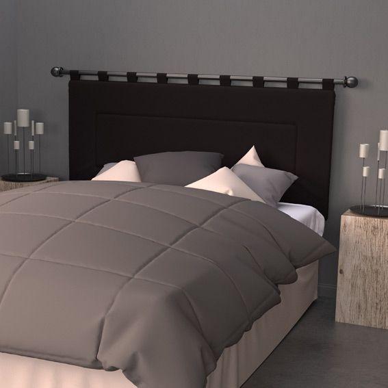 T te de lit 160 cm contemporaine noir t te de lit eminza - Tete de lit contemporaine ...