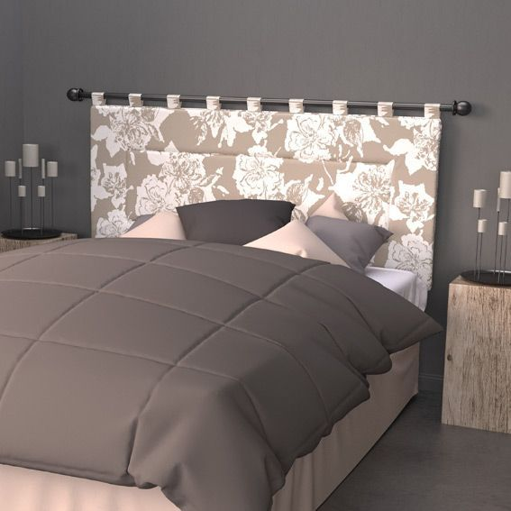 t te de lit 160 cm sofia taupe t te de lit eminza. Black Bedroom Furniture Sets. Home Design Ideas