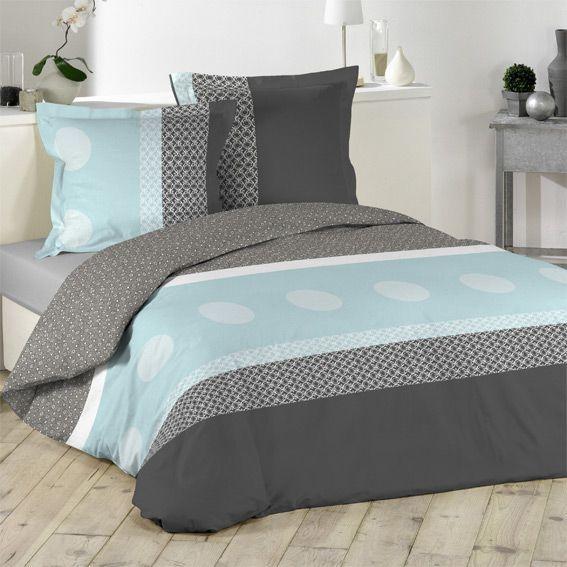 housse de couette et deux taies 240 cm chic eminza. Black Bedroom Furniture Sets. Home Design Ideas