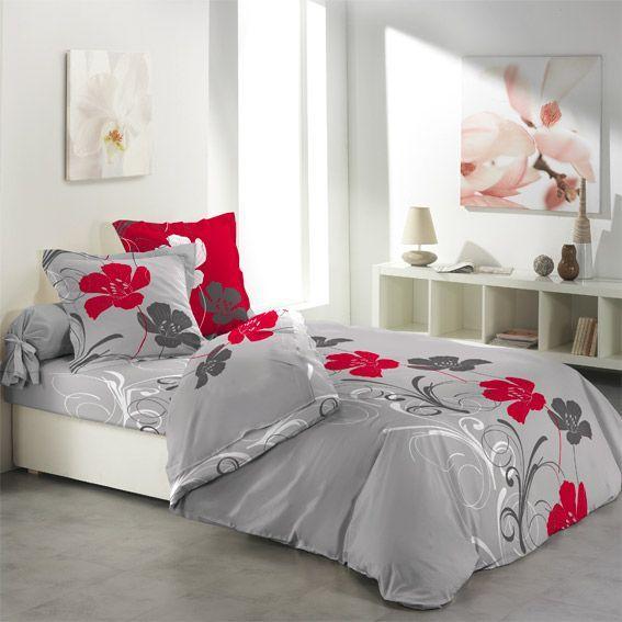 parure de draps 4 pi ces flanelle frise florale parure de draps eminza. Black Bedroom Furniture Sets. Home Design Ideas