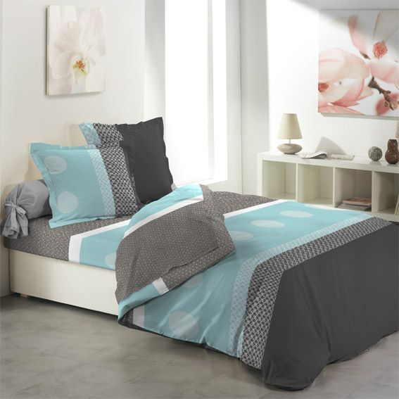 parure de draps 4 pi ces xl blue chic. Black Bedroom Furniture Sets. Home Design Ideas