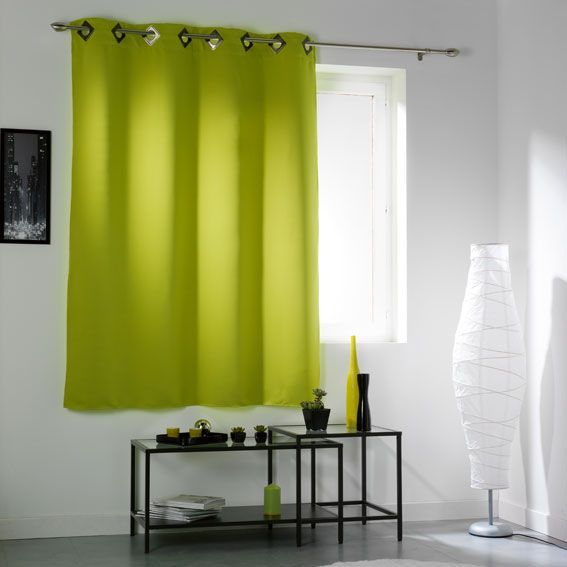 rideau occultant vert rideau et voilage eminza. Black Bedroom Furniture Sets. Home Design Ideas