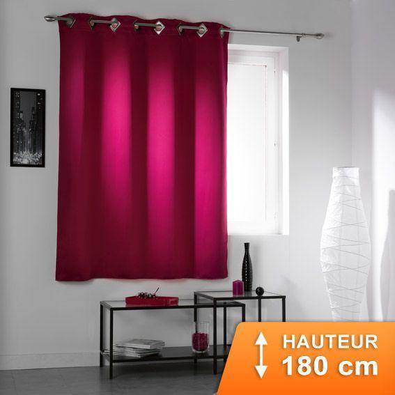 rideau oeillets occultant h180 cocoon fuchsia rideau. Black Bedroom Furniture Sets. Home Design Ideas
