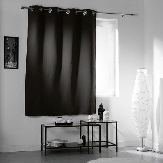 rideau occultant noir rideau et voilage eminza. Black Bedroom Furniture Sets. Home Design Ideas
