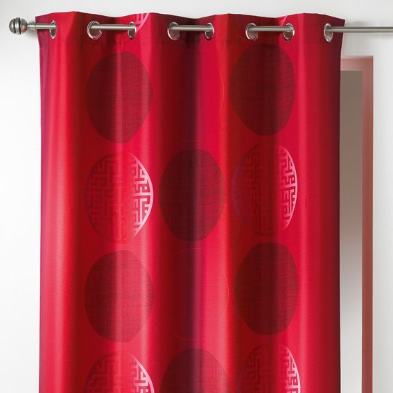 Rideau (140 x H260 cm) Kosmo Rouge