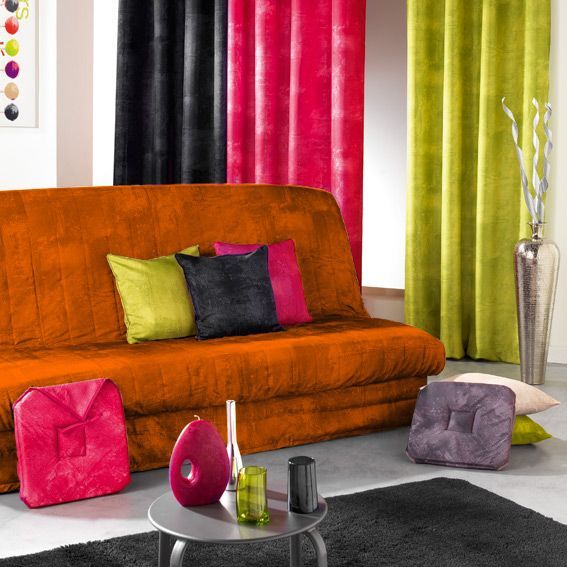housse de clic clac opak orange eminza. Black Bedroom Furniture Sets. Home Design Ideas