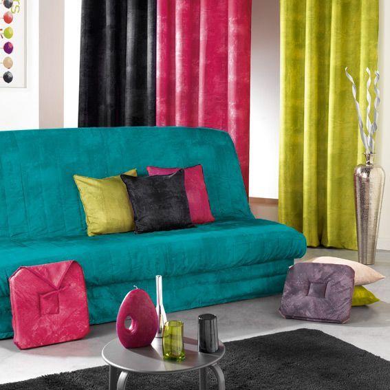 housse de clic clac opak bleu turquoise housse de canap. Black Bedroom Furniture Sets. Home Design Ideas