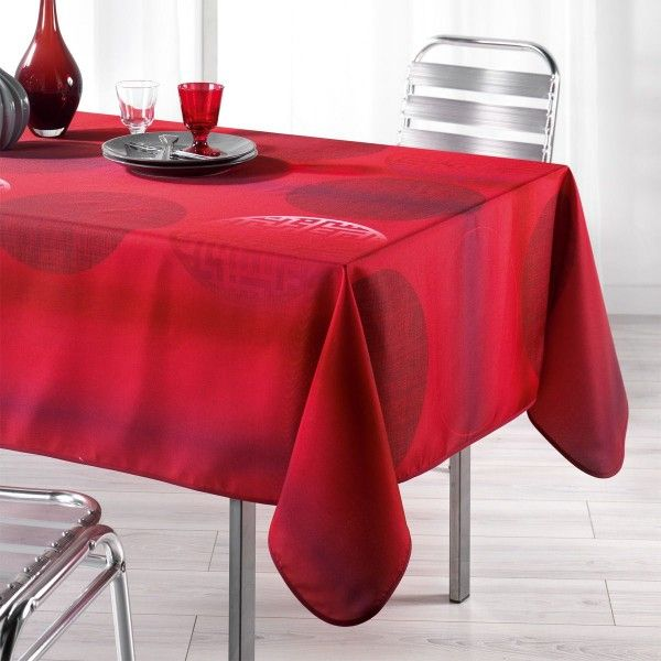 nappe de table rouge linge de table eminza. Black Bedroom Furniture Sets. Home Design Ideas