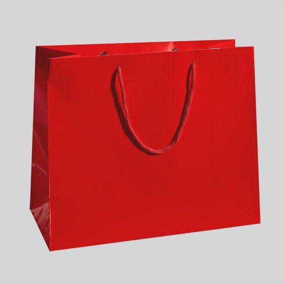 Sac cadeau H15 cm Brillant Rouge