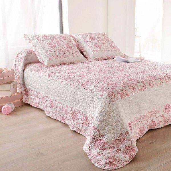 boutis et taies d 39 oreiller 250 x 260 cm toile de jouy. Black Bedroom Furniture Sets. Home Design Ideas