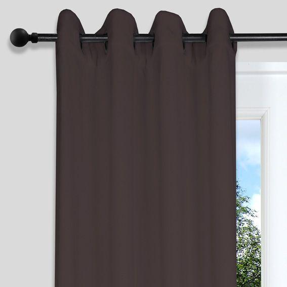 rideau et voilage marron eminza. Black Bedroom Furniture Sets. Home Design Ideas