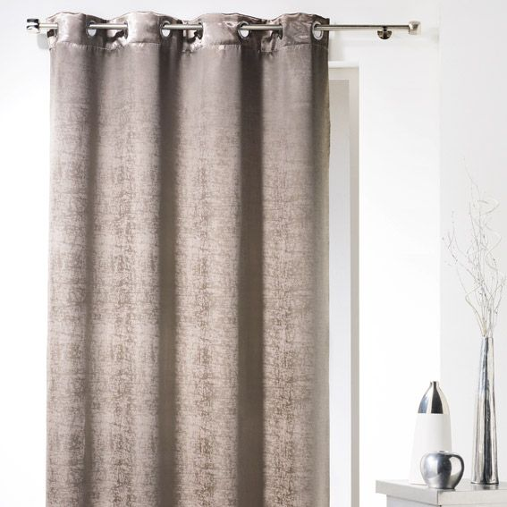 Rideau occultant (140 x H240 cm) Glossy chic Taupe - Rideau ...