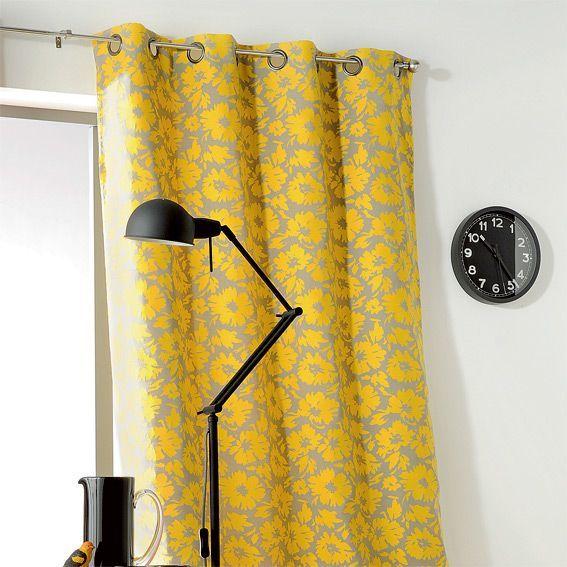 rideau 135 x h260 cm brazil jaune rideau voilage. Black Bedroom Furniture Sets. Home Design Ideas
