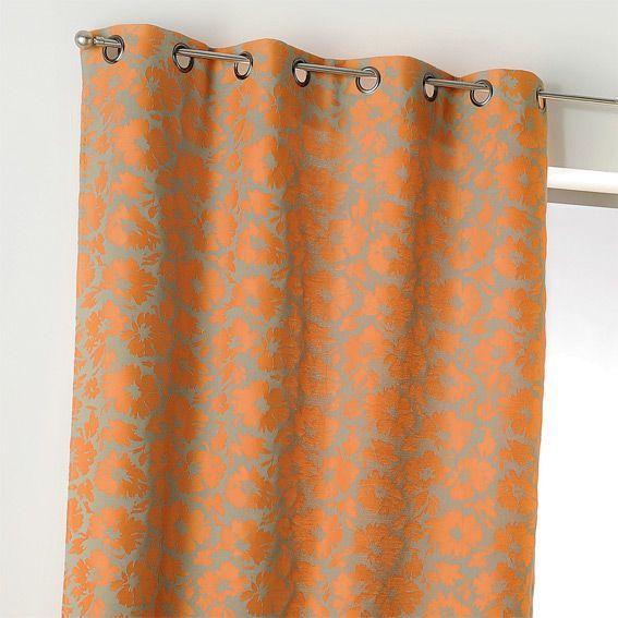 rideau et voilage orange eminza. Black Bedroom Furniture Sets. Home Design Ideas