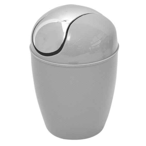 Mini poubelle happy gris clair poubelle eminza - Mini poubelle salle de bain ...