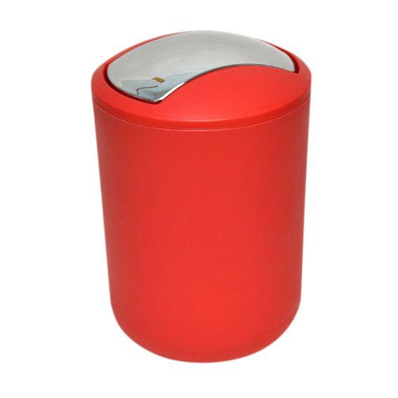 Mini poubelle moderny rouge poubelle eminza - Mini poubelle salle de bain ...