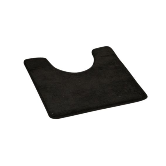 tapis contour wc microfibre simply noir tapis contour wc eminza. Black Bedroom Furniture Sets. Home Design Ideas