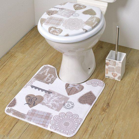 tapis de bain style montagne ecru eminza. Black Bedroom Furniture Sets. Home Design Ideas