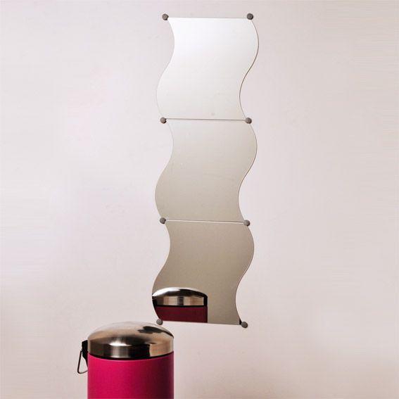 lot de 3 miroirs vagues accessoire salle de bain eminza