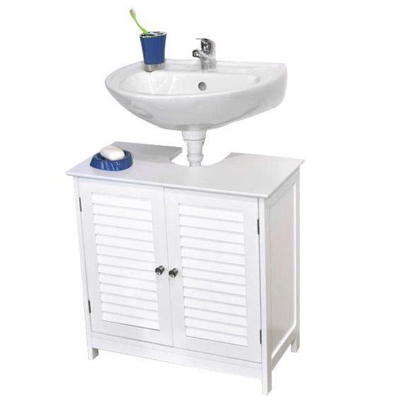 Meuble blanc eminza for Meuble lavabo blanc