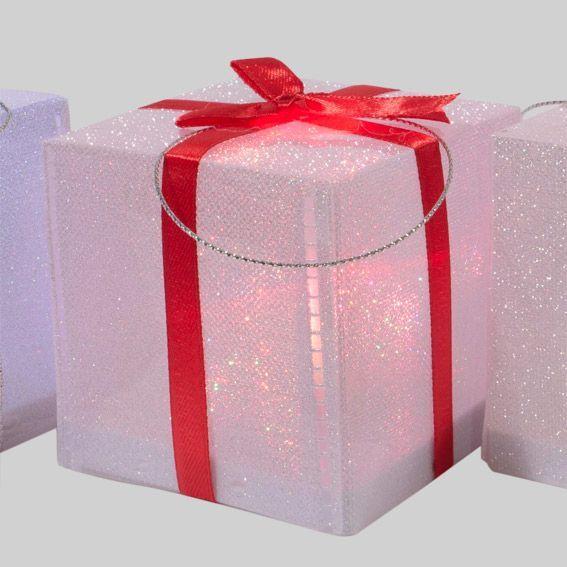cadeau lumineux bo te rouge d co de table lumineuse eminza. Black Bedroom Furniture Sets. Home Design Ideas