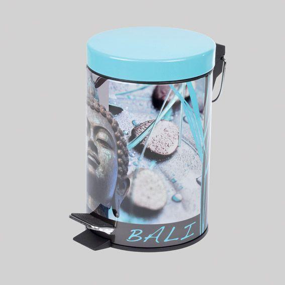 poubelle p dale bora bora bleu accessoire salle de. Black Bedroom Furniture Sets. Home Design Ideas