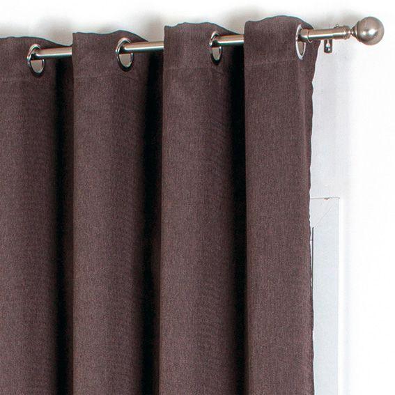 rideau occultant 140 x h260 cm natte chocolat rideau occultant eminza. Black Bedroom Furniture Sets. Home Design Ideas