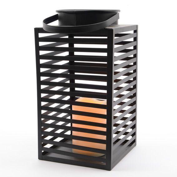 lanterne miami m tal noir eminza. Black Bedroom Furniture Sets. Home Design Ideas