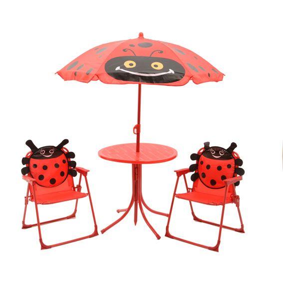 Salon de jardin pour enfant coccinelle rouge mobilier pour enfant eminza - Salon de jardin rouge ...